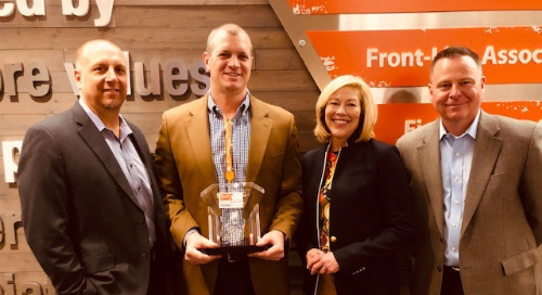 The Home Depot Awards Coyote for Providing Excellent, Responsive Service