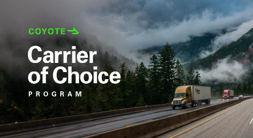 Coyote Rewards Carrier Performance with Easier Load Access