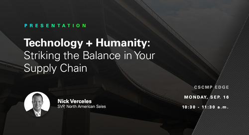 "SNEAK PEEK: ""How to Strike a Balance Between Technology and Humanity"" at CSCMP EDGE"