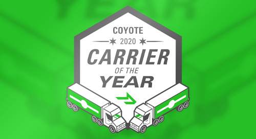 Congratulations to the 2020 Carriers of the Year
