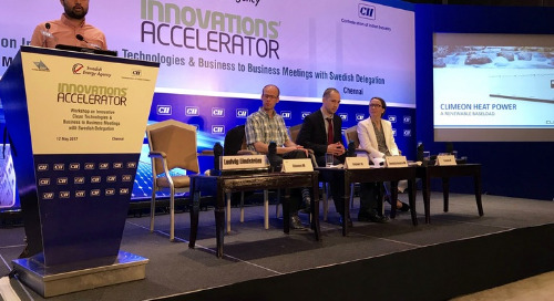 Climeon on stage at India Innovations Accelerator