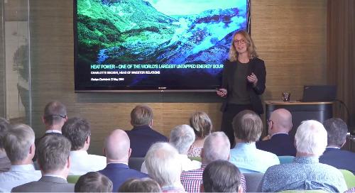 Climeons IR- och PR- ansvarig Charlotte Becker på Envirotech Seminar