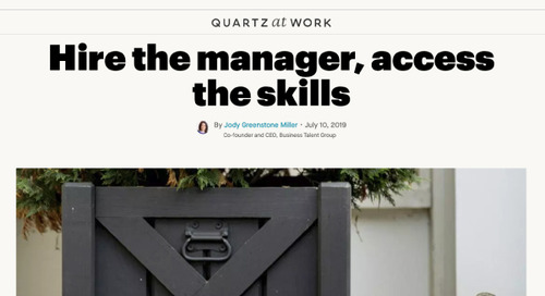 Hire the Manager, Access the Skills