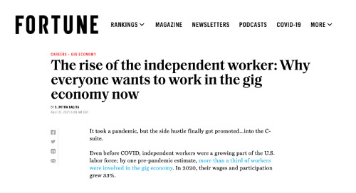 The Rise of the Independent Worker: Why Everyone Wants to Work in the Gig Economy Now