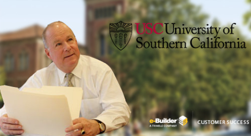 The University of Southern California Needed Real-time Visibility on All Projects