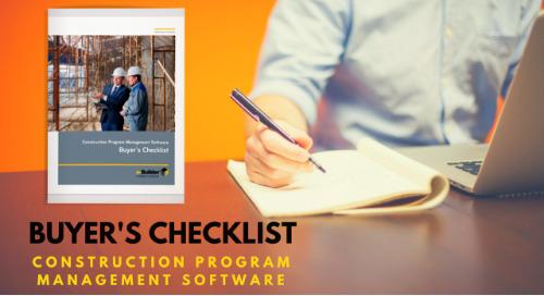 Buyer's Checklist: Construction Program Management Software