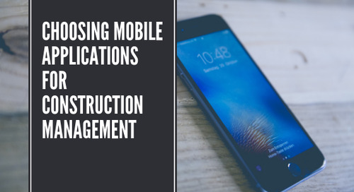 Choosing Mobile Applications for Construction Management