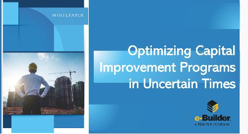 Optimizing Capital Improvement Programs