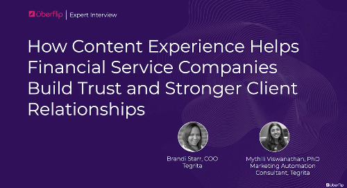 How Content Experience Helps Financial Services (Full Interview)