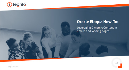 Oracle Eloqua How-To: Dynamic Content