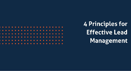 4 Principles for Effective Lead Management