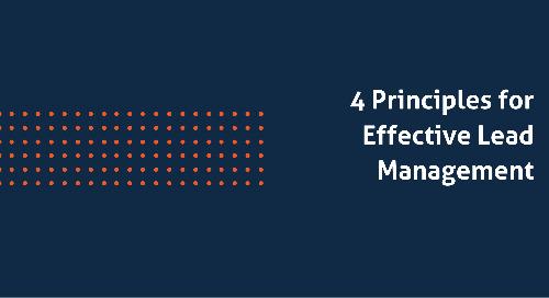 4 Principles for Effective Lead Management