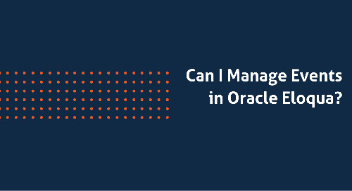 Can I Manage Events in Oracle Eloqua?
