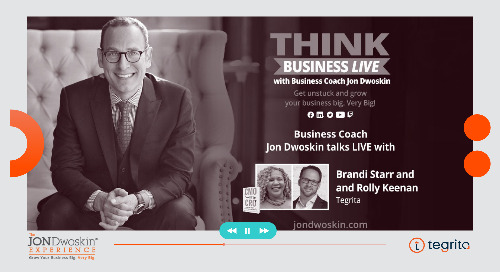 THINK Business LIVE with Brandi Starr and Rolly Keenan, COO and CRO of Tegrita