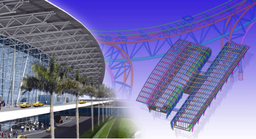Chennai Annadurai International Airport Expansion: Design-To-Fabrication Steel Project Carried Out within Tekla BIM Software