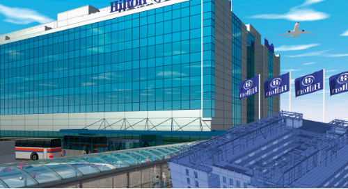 Hotel Hilton, Helsinki-Vantaa Airport: BIM Improves the Quality of Construction