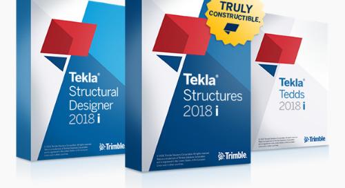 Trimble Releases Tekla Structures, Structural Designer, Tedds 2018i for BIM