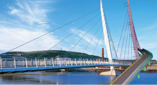 Swansea's Port Tawe Sail Bridge Project Completed in Less than 15 Months with the Help of Tekla Structures