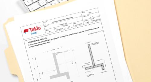 APT Engineering Standardize Calculation with Tekla Tedds