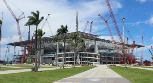 Ruby+Associates Relied on Tekla Structures to Complete the Hard Rock Stadium Canopy