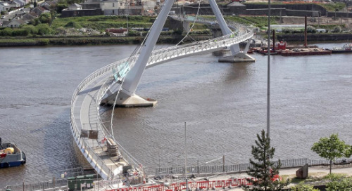 Peace Bridge: BIM helped Rowecord with Complex Geometry, Off-site Building and Even Transportation