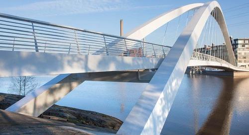 """Дедушкин мост"" от тендера до сдачи: BIM-технологий в строительстве пешеходного моста"