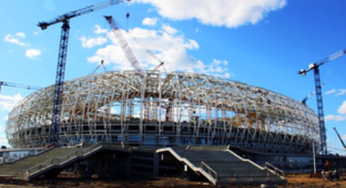 Mordovia Arena with Unique Structures Accurately Delivered for World Cup 2018