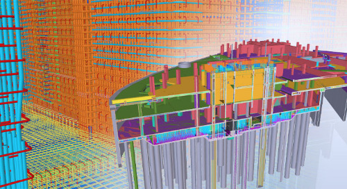Rebar Detailing in 3D for the Construction of Two London Skyscrapers