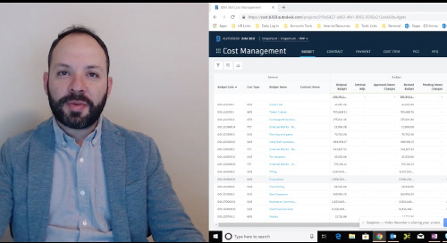 Welcome to BIM 360 Cost Management!