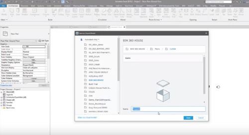 Saving a Revit file as a cloud model for Model Coordination