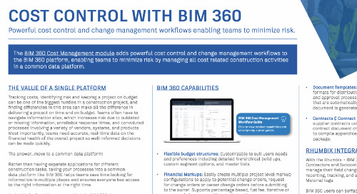 [Guide] Cost Control with BIM 360