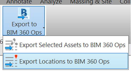 Export Locations from Revit to BIM 360 Ops