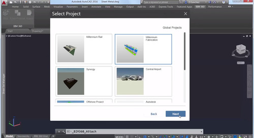 BIM 360 and Navisworks underlay in AutoCAD 2016!