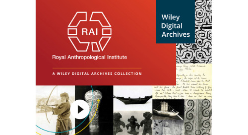 Wiley Digital Archives for Royal Anthropological Institute (RAI)