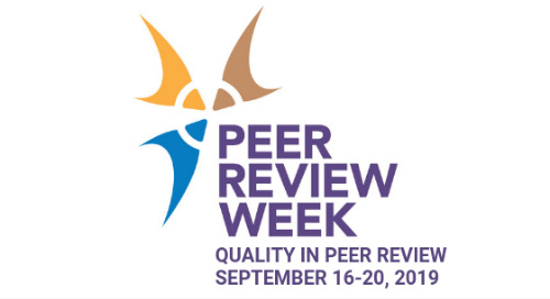 Welcome to Peer Review Week 2019!