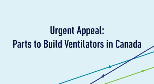 Urgent Appeal: Parts to Build Ventilators in Canada