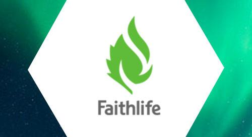 Cumulus Linux case study infographic: Faithlife