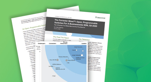 The Forrester Wave: Open, Programmable Switches For A Businesswide SDN, Q3 2020
