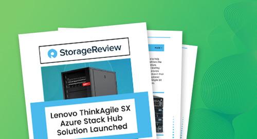 ThinkAgile SX for Microsoft Azure Stack Hub Storage Review