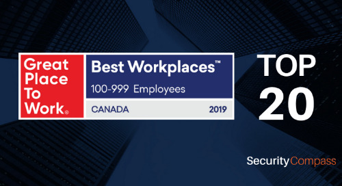 Security Compass is Proud to be Officially Recognized as one of Canada's Best Workplaces™