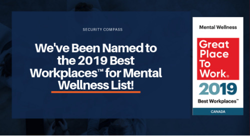 We've Been Named to Great Place to Work Institute's 2019 Best Workplaces™ for Mental Wellness List!
