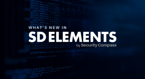 What's New in Our Latest Version of SD Elements (January 2019 — June 2019)