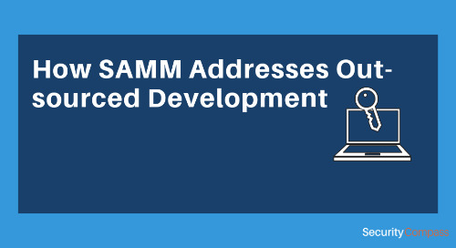 How SAMM Addresses Out-sourced Development