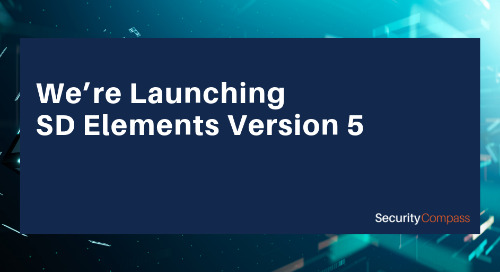 It's Here - SD Elements Version 5!