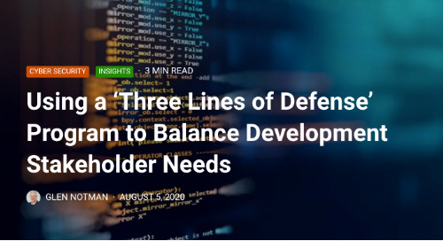 Using a 'Three Lines of Defense' Program to Balance Development Stakeholder Needs