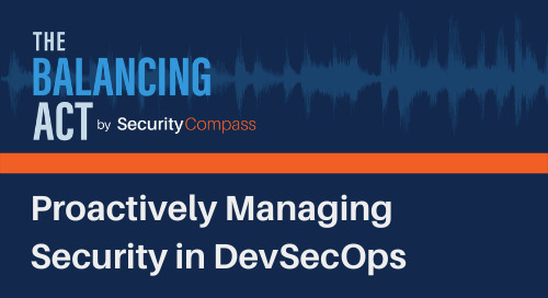 Proactively Managing Security in DevSecOps
