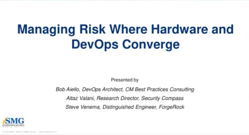 Managing Risk Where Hardware and DevOps Converge