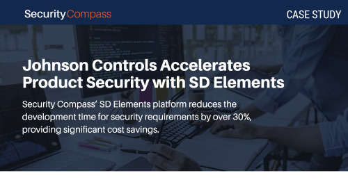Johnson Controls Accelerates Product Security With SD Elements