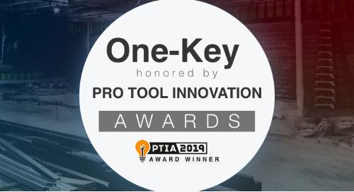 One-Key Tool Control Wins 2019 Pro Tool Innovation Award