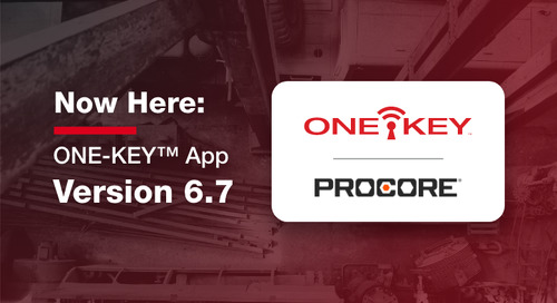 6.7 App Update: One-Key Integrates with Procore
